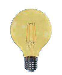 LED žiarovka LED žiarovka Tesla CRYSTAL, E27, 4W, G80, retro, teplá biela