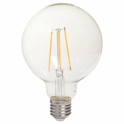 LED žiarovka LED žiarovka Tesla CRYSTAL, E27, 8W, guľatá, retro, teplá biela