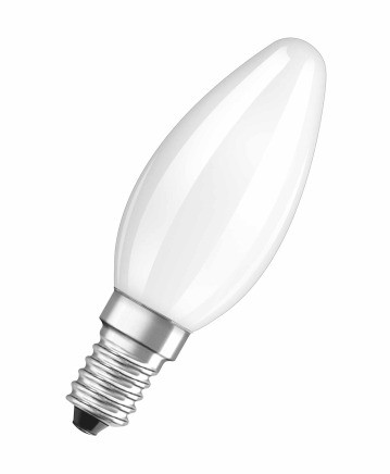 LED žiarovka Osram STAR, E14, 4,5W, guľatá, číra, teplá biela