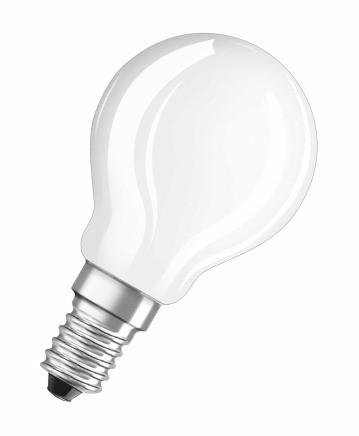 LED žiarovka Osram STAR, E14, 4W, guľatá, číra, teplá biela