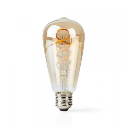 LED žiarovka SMART LED žiarovka Nedis WIFILT10GDST64, E27, 5,5W, filament