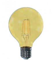 LED žiarovka Tesla CRYSTAL, E27, 4W, G80, retro, teplá biela