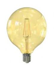 LED žiarovka Tesla CRYSTAL, E27, 4W, G95, retro, teplá biela
