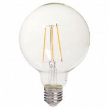 LED žiarovka Tesla CRYSTAL, E27, 8W, guľatá, retro, teplá biela