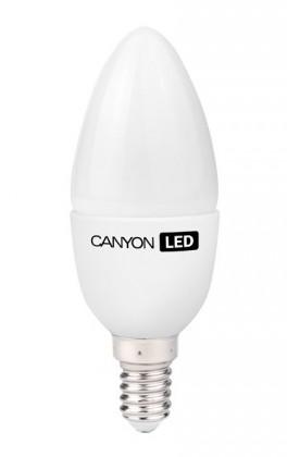 LED žiarovky Canyon LED COB žárovka, E14, svíčka, mléčná, 6W