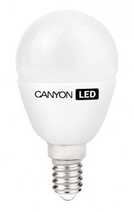 LED žiarovky Canyon LED COB žiarovka, E14, kompakt guľatá mliečna, 6W