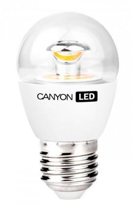 LED žiarovky Canyon LED COB žiarovka, E27, kompakt guľatá priehľadná, 6W