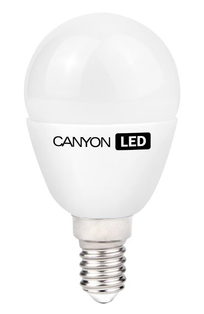 LED žiarovky CanyonLEDCOBžiarovka, E14, guľatá mliečna, 3,3W, neutr.biela