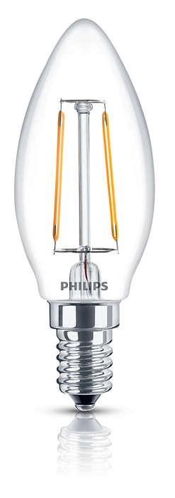 LED žiarovky Philips LEDClassic 2,3-25W, E14, 2700K, Čirá (929001180101)
