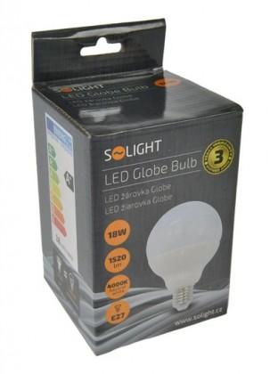 LED žiarovky Solight LED žiarovka, Globe, 18W, E27, 4000K, 270 °, 1520lm