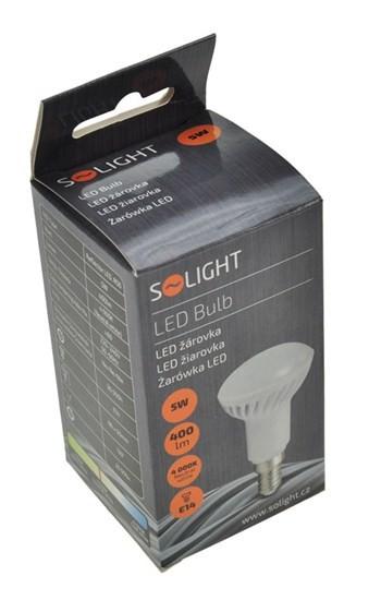 LED žiarovky Solight LED žiarovka reflektorové,R50,5W,E14,4000K,400lm,WZ414