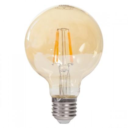LED žiarovky Tesla LED žárovka GLOBE CRYSTAL RETRO E27 4W