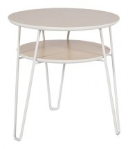 Leon - Konferenčný stolík, svetlý rám (dubová dyha, kovový rám)