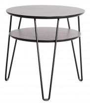 Leon - Konferenčný stolík, tmavý rám (dubová dyha)