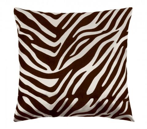 Leona - Vankúšik 45x45cm (zebra krémová/hnedá)