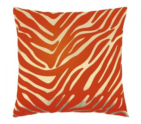 Leona - Vankúšik 45x45cm (zebra vanilka/oranžová)