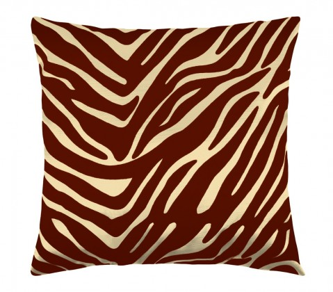 Leona - Vankúšik 45x45cm (zebra vanilka/vínová)
