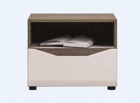 Leone - Nočný stolík (dub trufel, biela lesk)