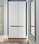 Leone - Skriňa, 2 dvere (dub trufel, biela lesk)