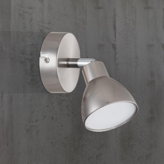 Lester - Nástenné svietidlo, LED (nikel)