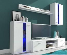 Life - Obývacia stena (biela/biela lesk)