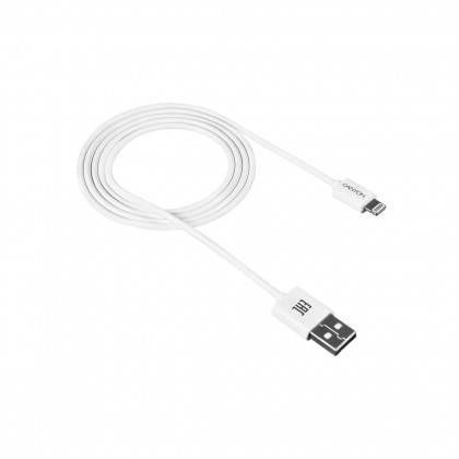 Lightning káble Kábel Canyon Lightning na USB, 1m, biela