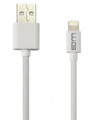 Lightning káble Kábel WG Lightning s MFI na USB, 1m, biela