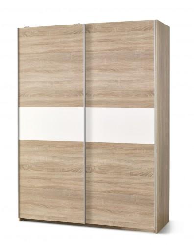 Lima - Skriňa s posuvnými dverami (dub sonoma, biela)