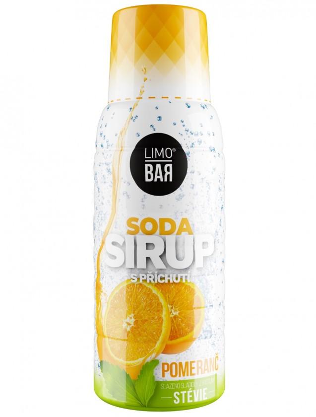Limobary, sirupy Sirup Limo Bar, pomaranče, stévia, 500ml