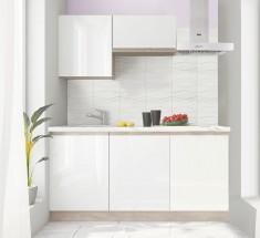 Line - Kuchyňská linka (biela lesk/biela PD)