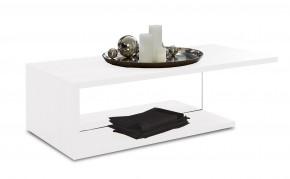 Linea - Konferenčný stolík (biela s čírym sklom)