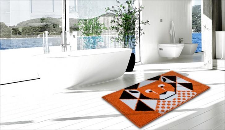 Lion - Kúpeľňová predložka 60x90 cm (oranžová)