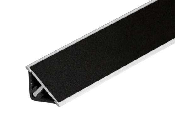Lišta na kuchynskú linku (trojuholník, čierna)