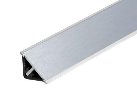 Lišta na kuchynskú linku (trojuholník, strieborná)