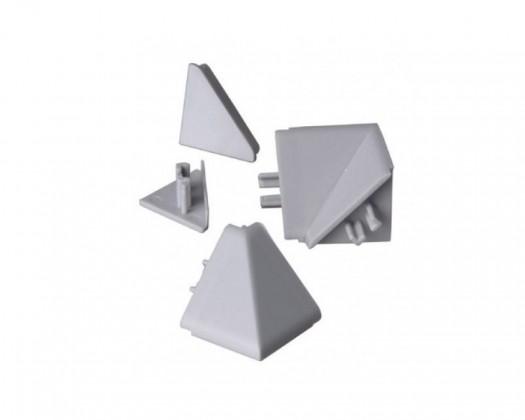 Lišty na kuchynskú linku Zakončenie lišty na kuchynskú linku (trojuholník, strieborná)