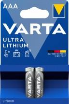 Lítiová mikrotužková batéria Varta Profi, AAA, 2ks