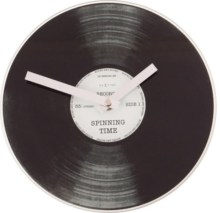 Little Spinning Time - hodiny, nástenné i stojaté (sklo, čierne)