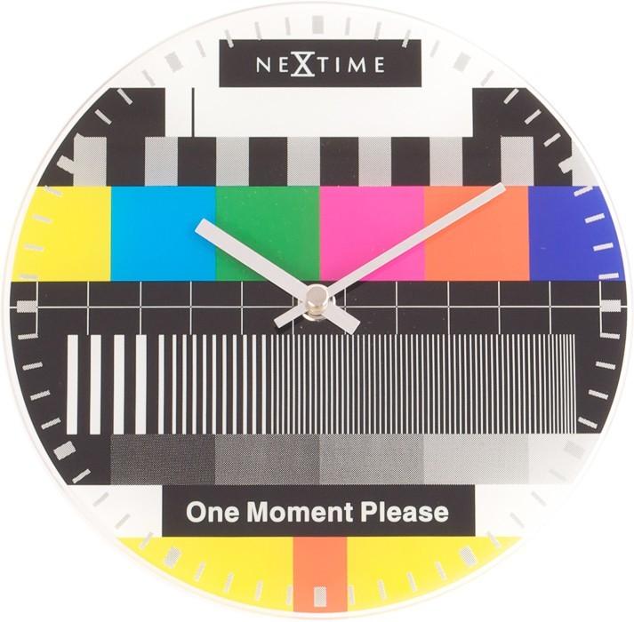 Little Testpage - hodiny, nástenné, guľaté (sklo, farebné)