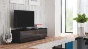 Livo - TV stolík 160 stojící (černá mat/černá lesk)