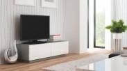 Livo - TV stolík 160 stojící (šedá mat/bílá lesk)