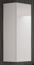 Livo - Závesná skrinka 120 (bílá mat/bílá lesk)
