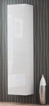 Livo - Závesná skrinka 180 (bílá mat/bílá lesk)