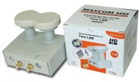 LNB Mascom MCM4T01HD, Monoblock Twin, Gold 4.3 °