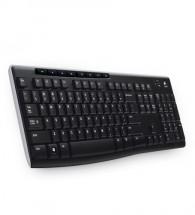 Logitech Wireless Keyboard K270 USB CZ, čierna