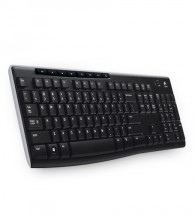 Logitech Wireless Keyboard K270 USB CZ, čierna