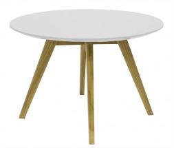 Lola Bess - Konferenčný stolík, biela, dub (9317-054+9366-001)