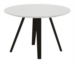 Lola Ella - Konferenčný stolík, biela,čierna (9315-024+9366-001)