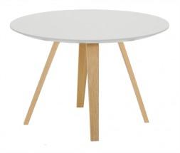 Lola Ella - Konferenčný stolík, biela, dub (9315-054+9366-001)