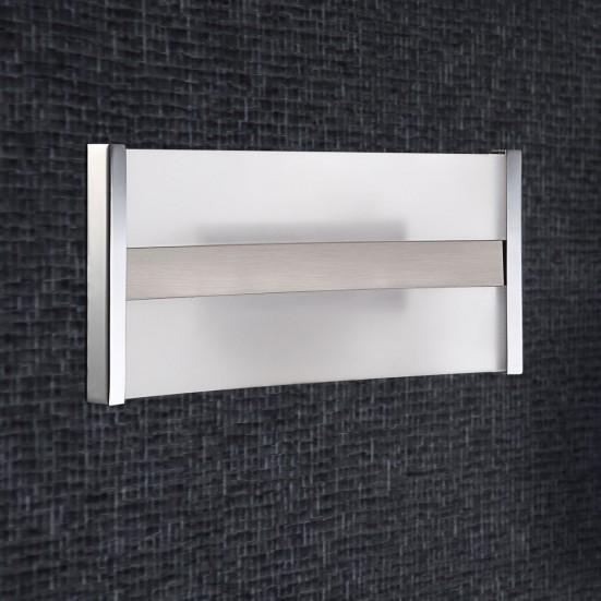 Louvre - Nástenné svietidlo, LED (matný nikel/chróm)