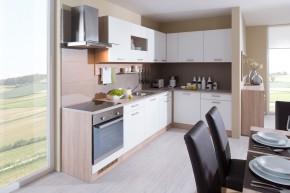 Luce - Kuchyne, 300x180 cm, biela (biela, dub bardolino, piesok)